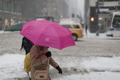 (Keith A Hayes) Tags: newyorkcity umbrella snowstorm streetphotography snowing {vision}:{outdoor}=0842