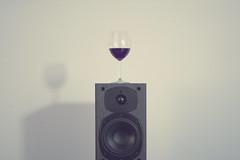 the taste with sound (Khuroshvili Ilya) Tags: glass speaker audio sound vine taste 2014 lights light minimal minimalism fragment geometry symmetry concept nvbr nvbr11 canon art frontview portfolio unusual frontal