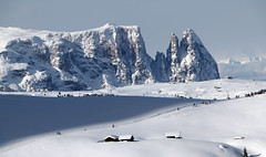 Winter in Südtirol (mikiitaly) Tags: schnee winter italy snow day berge südtirol altoadige dolomiten schlern seiseralm santner montdeseura mygearandme ruby5 pwwinter