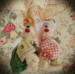 Sempre lindos (Sonhos de Tecido) Tags: artesanato coelho decorao pascoa