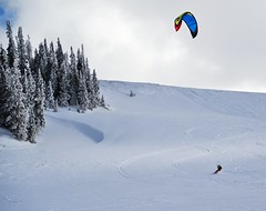 Board Where the Wind Takes You (JasonCameron) Tags: blue trees winter sky white mountain snow kite beautiful sport pine clouds utah wind extreme scenic crisp serene boarding xtreme peacful