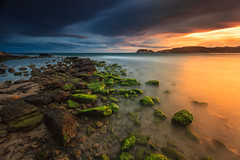 Windy colors (Antonio Carrillo (Ancalop)) Tags: longexposure sunset sea bw espaa costa seascape beach water clouds marina canon landscape atardecer coast mar sp