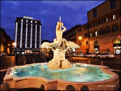 Fuente de Bernini, Roma (JaviMenen) Tags: roma agua italia fuente bernini