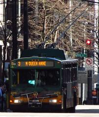 King County Metro 2001 Gillig Phantom Trolley 4178 (zargoman) Tags: seattle county travel bus electric king metro trolley transportation transit phantom gillig kiepe elektrik kingcountymetro highfloor