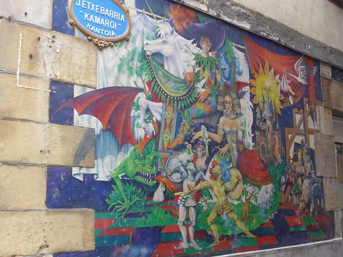 Mural en una de las calles de Bilbao