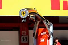 Ferrari elephant trunk . Formula 1 2014 Barcelona GP Spain 2657e (antarc foto) Tags: formula 2014 circuit de barcelona catalunya montmeló gran premio españa pirelli catalonia f1 catalogne motorsport grandprix granpremi granprix race racing pit box pitlane walk thursday formula1 formulaone