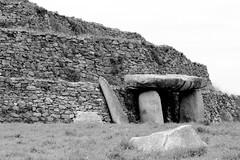Sketches of Brittany 30 (Broot - Thanks for a half million views!!) Tags: winter blackandwhite bw france monochrome stone march ancient brittany wwii bunker german manmade dolmen
