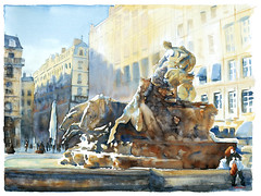 La rousse des Terreaux (joel tenzin) Tags: france watercolor europe lyon aquarelle master medium portfolio watercolors 69 rhone europ aquarelles qualit lieu 69rhone europeurope aquarelleaquarelleswatercolorwatercolors portfolioaquarelle