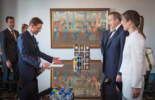 Pääministeri Jyrki Katainen ja Viron presidentin Toomas Hendrik Ilves tapasivat 14.5.2014