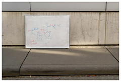 (redynsap) Tags: street white found photography berkeley object board math formula uc