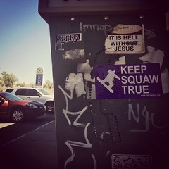 Stickers 2015 (mcknightpercy) Tags: california city urban streetart art up graffiti photo sticker flickr decay sticky tag jesus stickers hell obey artists collab zebra marker graff adhesive squaw slaps 2015 slaptag thimp