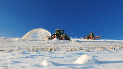 FENDT Snow Removal Team (martin_king.photo) Tags: world winter snow cup beautiful weather work photo video highlands team king day republic martin czech parking working freezing sunny frosty before na cleaning spots p removal plowing ibu external biathlon snowblower tms 211 412 frosen nove fendt 2015 vario mesto 516 westa vysoina esko profi morave nmnm bohemianmoravian martinkingphoto