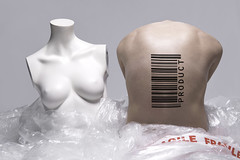 Human Product (project) (Marty085) Tags: white money mannequin forsale body creative human commercial buy barcode portfolio conceptual product society fragile slave cellophane buyme homologation stayhuman humanproduct
