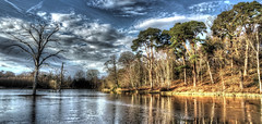 Clumber Park (Andrew Kettell) Tags: park trees lake ice hdr clumber