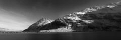 y Gribin panorama b&w (ir0ny) Tags: bw panorama mountain lake snow ice wales blackwhite y snowdonia tryfan northwales cwmidwal gribin