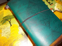 Traveler's Notebook (LadyFalconTN) Tags: notebook tn travelers stamped fn aquagreen ashleychan