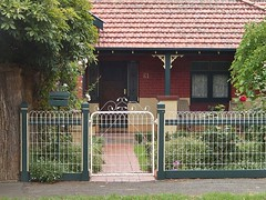Preserved Heritage (mikecogh) Tags: original house heritage classic fence gate veranda tiles adelaide kensington typical 61