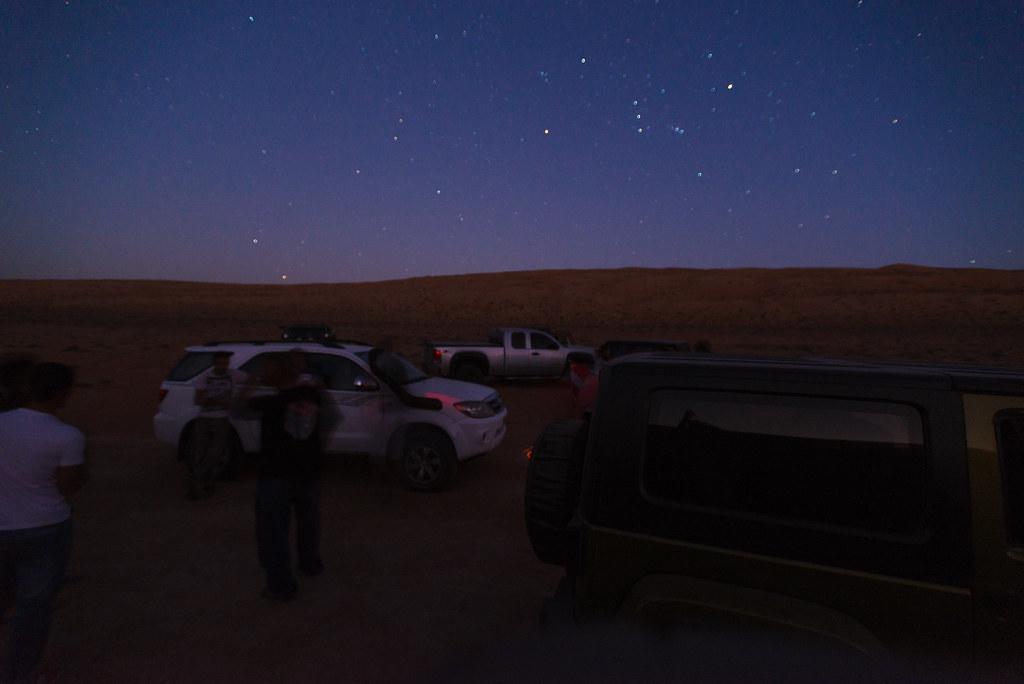 Riding under the stars