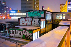 Boxes (Gedvillo Photography) Tags: winter urban colors architecture copenhagen subway lights metro boxes grafity nightcity nightligths buildigs
