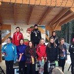 Sun Peaks Teck Okanagan Zone U14 GS - Women's U14 Podium on Sunday - 1 KERSEY, Makena (Vernon Ski Club); 2 DAVIES, Kayley (Apex Ski Club); 3 LOCKWOOD, Emma (Vernon Ski Club)