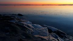 A winter sunset view from Etelinen Uunisaari to the sea (Helsinki, 20150106) (RainoL) Tags: winter sunset sea ice finland geotagged helsinki january balticsea u bluehour helsingfors fin ullanlinna seashore uusimaa 2015 nyland ulrikasborg etelinenuunisaari sdraugnsholmen 201501 20150105 geo:lat=6015166953 geo:lon=2495196660