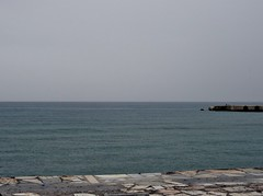 Not always sunshine at the Libyan sea. (Ia Lfquist) Tags: sea rain grey kreta crete regn havet hav libyan grtt libyska