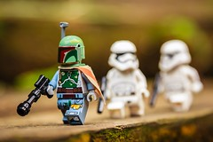 Stalked by Imperial (yudho w) Tags: starwars lego stormtrooper bobafett minifig clonewars minifigure bountyhunter
