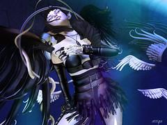 Fallen angel (axxya) Tags: black dark wings fantasy angels secondlife fallen axxya