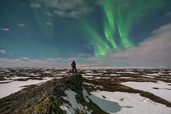 'Myvatn Aurora' - Iceland (Kristofer Williams) Tags: sky night stars landscape iceland nightscape aurora figure moonlight myvatn northernlights auroraborealis selfie pseudocrater neiceland