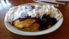 Blackberry pancakes at Cracker Barrel in Springfield, Mo. (Adventurer Dustin Holmes) Tags: pancakes breakfast blackberry crackerbarrel 2016 breakfastfoods