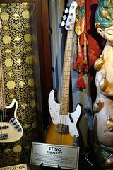 Sting Bass Guitar (Lex Photographic) Tags: london sting police bassguitar hardrock hardrockcafe hardrockvault