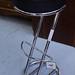 Bar stool chrome and leather