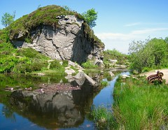 Haytor Quarry (Lelly-B) Tags: blue sky green water landscape devon granite dartmoor waterlillies quarry