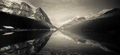 passage (rockpowered) Tags: longexposure canada reflection 120 film analog holga scanner pinhole alberta banff lakelouise xtol wpc120