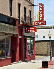 Savoy Hotel and Cafe (Rob Sneed) Tags: sign st vintage hotel cafe colorado neon n commercial trinidad eatery savoyhotel santafetrail countyseat ratonpass interstate25 savoycafe lasanimascounty ncommercialst