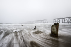I MUST GET OUT!   (EXPLORED) (lynneberry57) Tags: sea seascape water weather canon landscape movement flickr tide foggy vanishing hartlepool 70d leefilters steetleypier