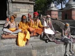Santoni o pseudotali (iremagi) Tags: nepal people colours persone colori pashupatinath santoni marcogiunta