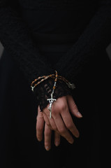 Shackled (patrycjamarciniak) Tags: shackles rosary religion conceptual dark hands atheism christianity