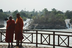 (Hypothesis Testing) Tags: orange river waterfall asia southeastasia monk laos lao mekong freshwater laopdr greatermekong selfiestick mekongcatchment