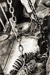 On Deck (garethleethomas) Tags: old blackandwhite industry monochrome canon mono chains fishing grain deck dying trawler