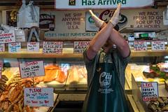 Fish X-Man (jonesmarilyn424) Tags: seattle fish pikeplacemarket monger