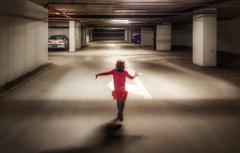 Joy (Ales Kladnik) Tags: pink underground happy jump play garage tunnel run