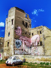 tutto si distrugge (aannasole) Tags: house streetart abandoned wall mural artist decay contemporaryart urbanart sicily 500 palermo mostro cocci abbandono degrado kalsa emajons annasole