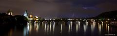 Lightning above Prague (stavos) Tags: city longexposure bridge night river cityscape republic czech prague wideangle charles praha lightning vltava moldau