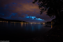 Lac d'annecy (Deathscythe42) Tags: annecy nature canon landscape paysage nuit lacdannecy rhnealpes samyang8mm eos70d