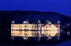Jal Mahal at blue hour (MReveles) Tags: india water canon bluehour 7020028l jaipur jalmahal 5dmkii