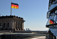 Berlin Reichstag (360around) Tags: roof summer reflection berlin glass june europa flag reichstag traveling 2016 visitberlin nikond5000