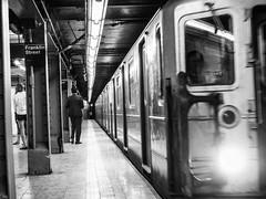 Franklin Street (C@mera M@n) Tags: city nyc newyorkcity urban blackandwhite ny newyork monochrome subway us unitedstates outdoor manhattan citylife places cityscene newyorkphotography newyorkcityphotography