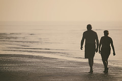 Walking together (Enricodot ) Tags: sea water walking seaside walk adriaticsea monocrome mareadriatico enricodot