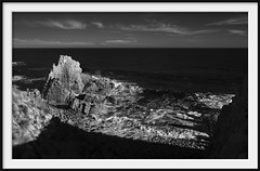 pinnacle points (Andrew C Wallace) Tags: blackandwhite bw ir shadows australia victoria infrared phillipisland pinnacles m43 capewoolamai microfourthirds olympusomdem5